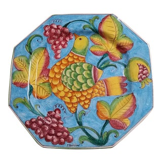 Vintage P. Bartoloni Italian Decorative Hanging Plate For Sale