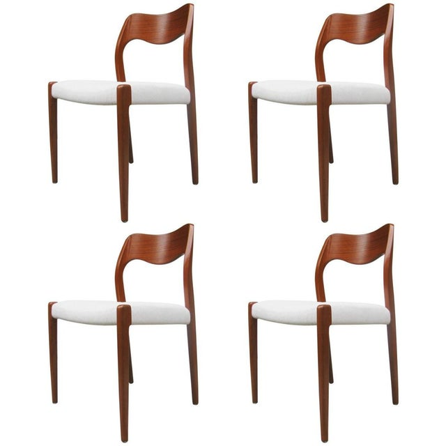 Model 71 Teak Dining Chairs by Niels Otto Møller for JL Møllers, 1951 For Sale - Image 11 of 11