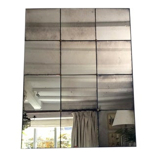 21st C Bespoke Hand Floxed Mirror For Sale