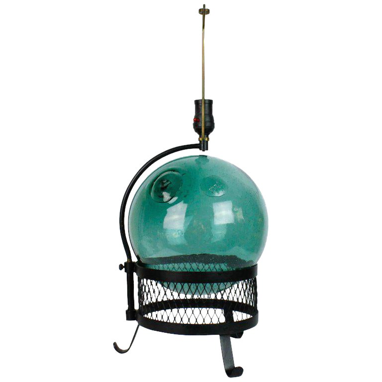mid century japanese fishing float lamp chairish