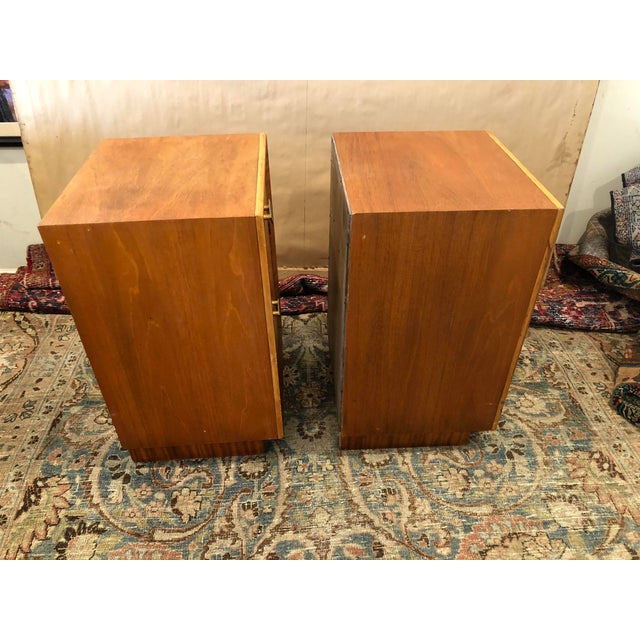 Mid Century Art Deco Night Stands W Movingui Wood Vaneer - a Pair For Sale - Image 9 of 13