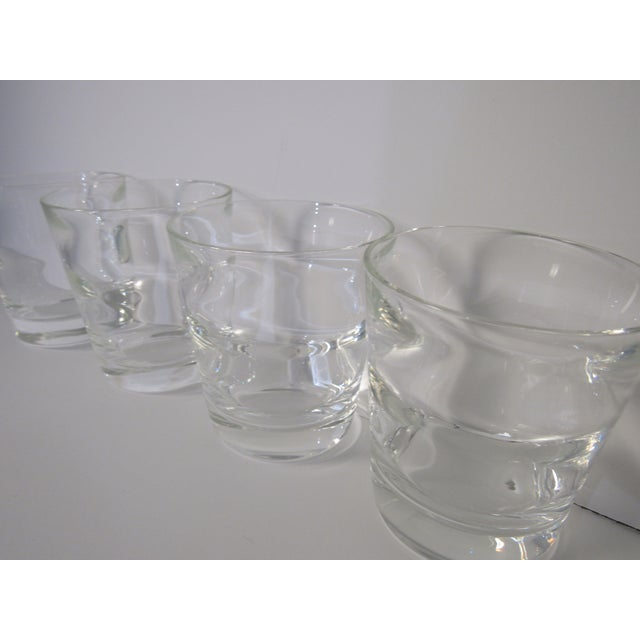 Transparent Low Ball Glasses by Tiffany & Co - Set of 4 For Sale - Image 8 of 13