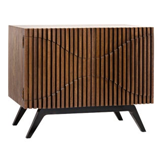 Illusion Single Sideboard, Walnut and Metal For Sale