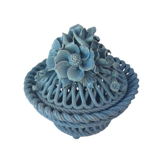 Blue Italian Potpourri Covered Dish - Image 1 of 9