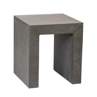 Modern Cement Side Table For Sale