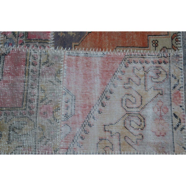 Turkish Hanmade Patchwork Runner Carpet - 2′11″ × 9′3″ For Sale - Image 5 of 6