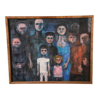 "1930's ""Family Portrait"" Painting For Sale"