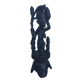 Wooden Carved Goddess of Fertility Statue