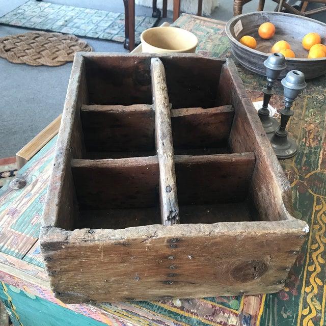 Rustic Vintage Rustic Bottle Carrier For Sale - Image 3 of 5