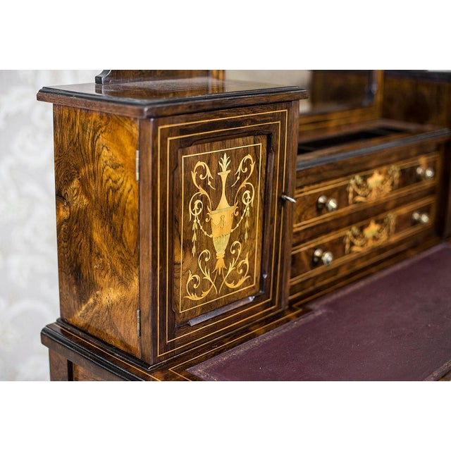 19th Century Lady's Desk Veneered with Rosewood For Sale - Image 12 of 13