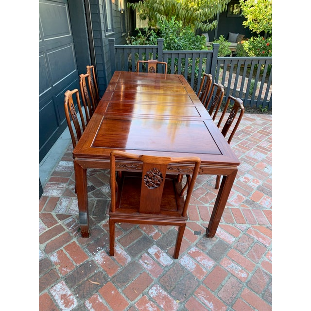 Wood Vintage Solid Rosewood Dining Set - 9 Pieces For Sale - Image 7 of 13