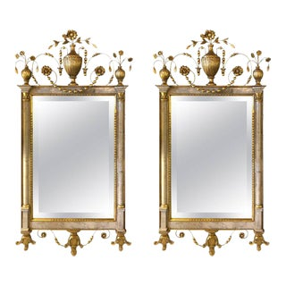 Gilt Northern Italian Wall or Console Mirrors - a Pair