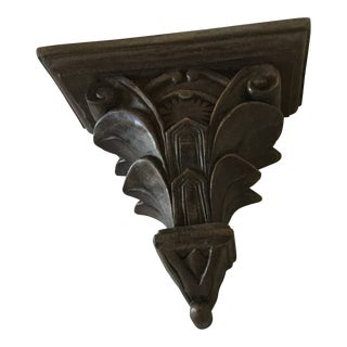 Asian Carved Wooden Wall Bracket For Sale