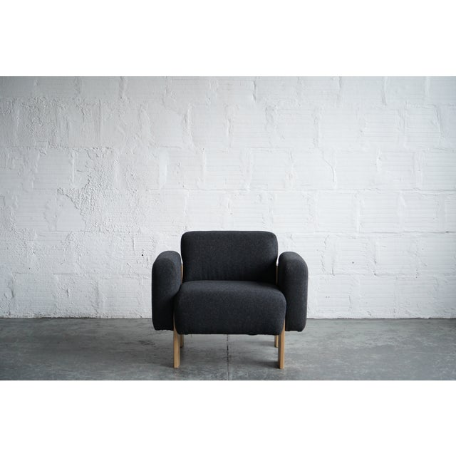 Wood Modern Billow Lounge Chair For Sale - Image 7 of 7