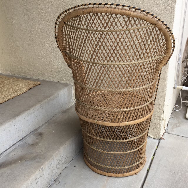 Vintage Boho Chic Wicker Chair - Image 7 of 10