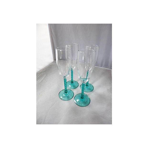 Blue Stem Champagnes Glasses - Set of 4 - Image 7 of 7