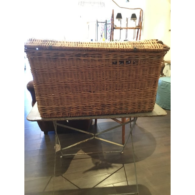 20th Century French Woven Wicker Basket For Sale In Phoenix - Image 6 of 13
