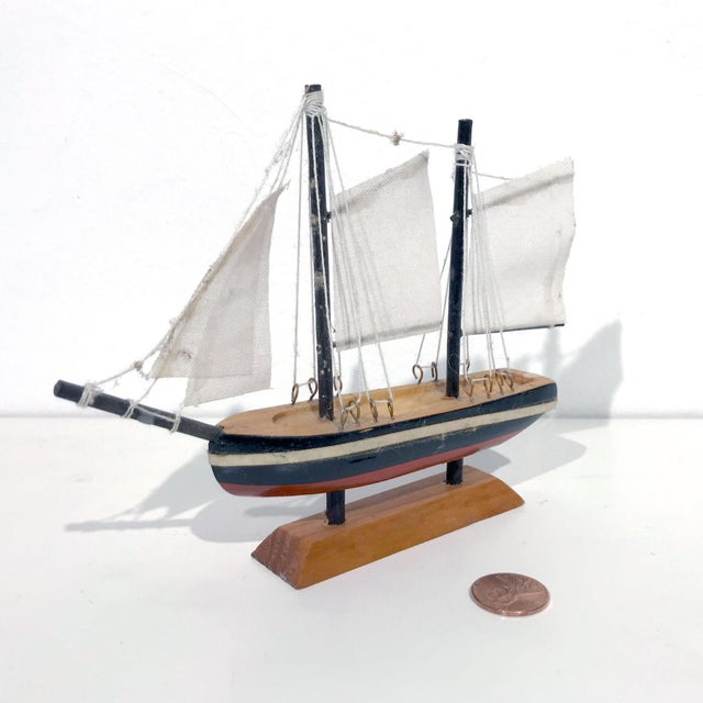Nautical Wooden Model Sailing Ship - Image 2 of 11