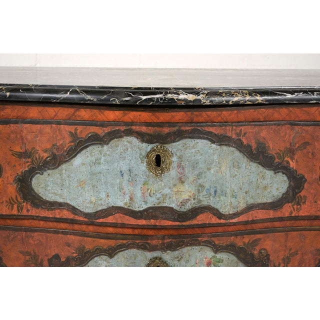 Late 18th Century Late 18th Century Polychrome Chest of Drawers For Sale - Image 5 of 13