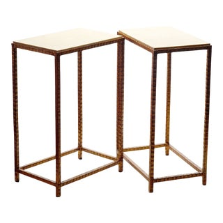 20th C. Mid Century Modern Shagreen Side Tables For Sale