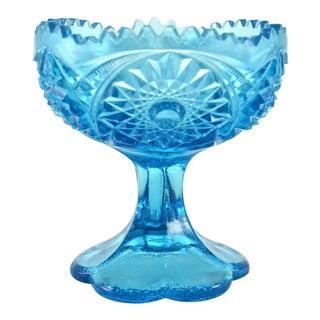 Aqua-Teal Pedestal Bowl.