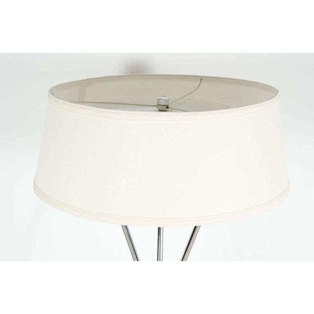 Hansen Lighting Co. T.H. Robsjohn-Gibbings Polished Chrome Tripod Reading Lamp For Sale - Image 4 of 7