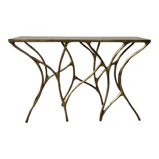 Mid-Century Modern Made Goods Console Table For Sale