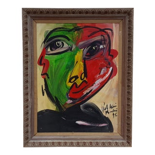 "1975 "" James Bond "" Portrait Painting by Piter Keil For Sale"