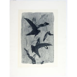 Abstract Birds Etching Print Preview