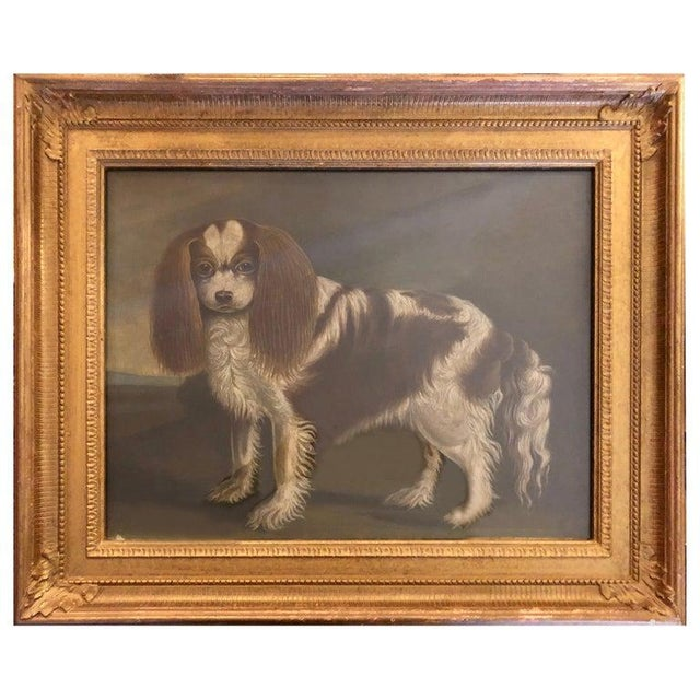 Late 20th Century Portrait of a Cavalier King Charles Spaniel Oil on Canvas Painting For Sale - Image 11 of 11