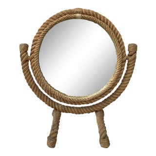 Vanity Mirror Audoux Minet, Circa 1960 For Sale