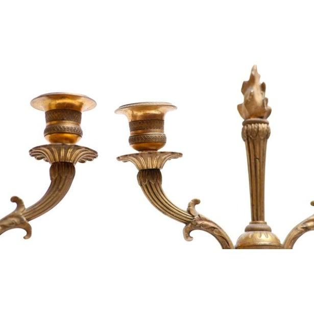 Austrian Gilt Bronze & Glass Candelabrum - A Pair - Image 2 of 4