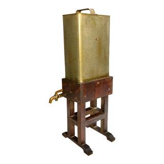 Early 20th Century Folk Art Americana Oil Can Dispenser on Quartersawn Oak Stand For Sale