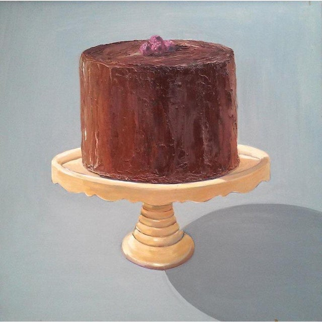 Contemporary Chocolate Raspberry Cake Print by Paula McCarty For Sale - Image 3 of 3