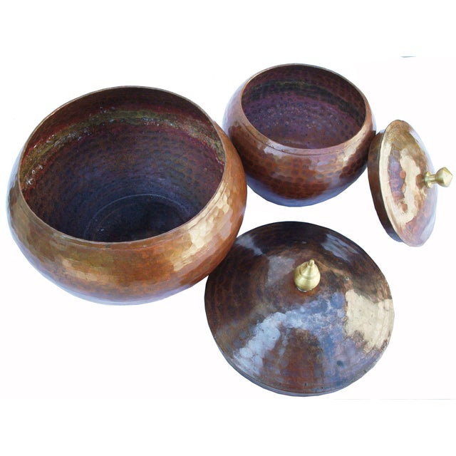 Arts & Crafts Hammered Copper Pots - A Pair For Sale - Image 3 of 6