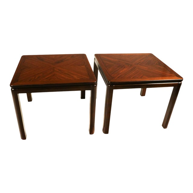Pair Mid Century Lane Rosewood Side Tables For Sale