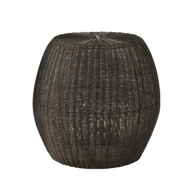 Blackened Wire Barrel Stool - Image 1 of 3