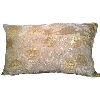 Chinese Branch Silk Velvet Pillow For Sale