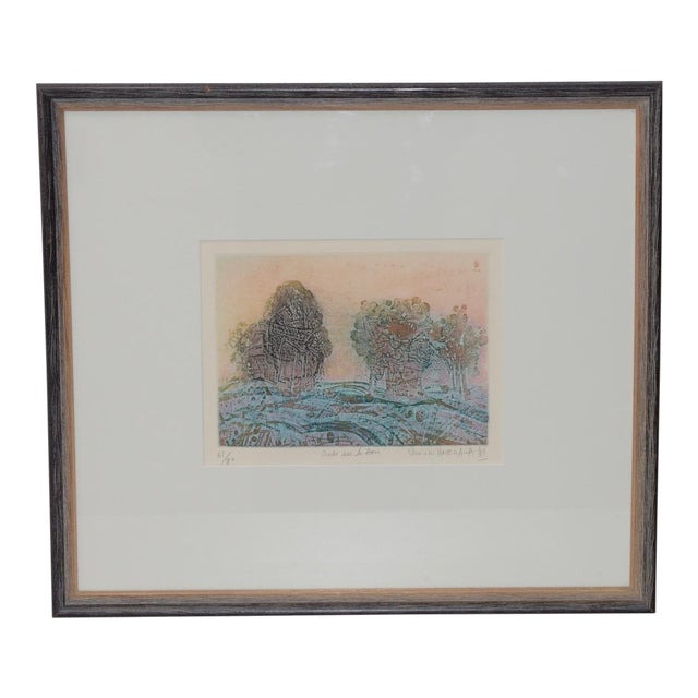 Soichi Hasegawa Limited Edition Etching W/ Aquatint C.1970s For Sale
