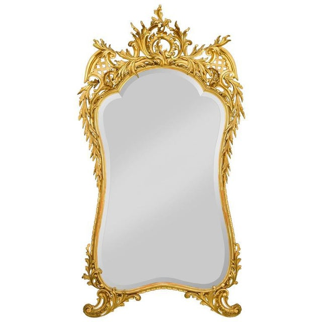 Louis XV Louis XV Style Gold Leaf Mirror For Sale - Image 3 of 3