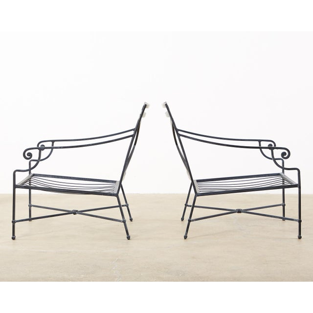 Early 21st Century Brown Jordan Venetian Aluminum Patio Lounge Chairs - a Pair For Sale - Image 5 of 13