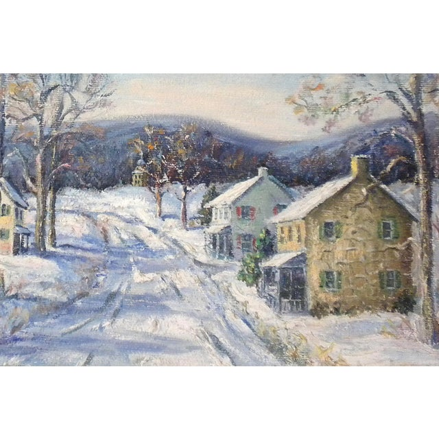 """Ann Yost. """"Easton Highway in Pennsylvania"""". Dated 1955. A Pennsylvania Impressionist landscape. This painting is signed..."""