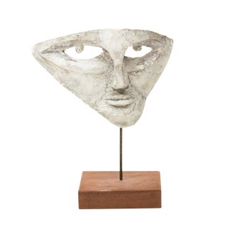 Decorative 1920's Mask on Stand For Sale