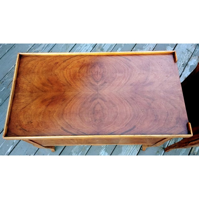 1980s French Walnut End Tables - a Pair For Sale - Image 11 of 13