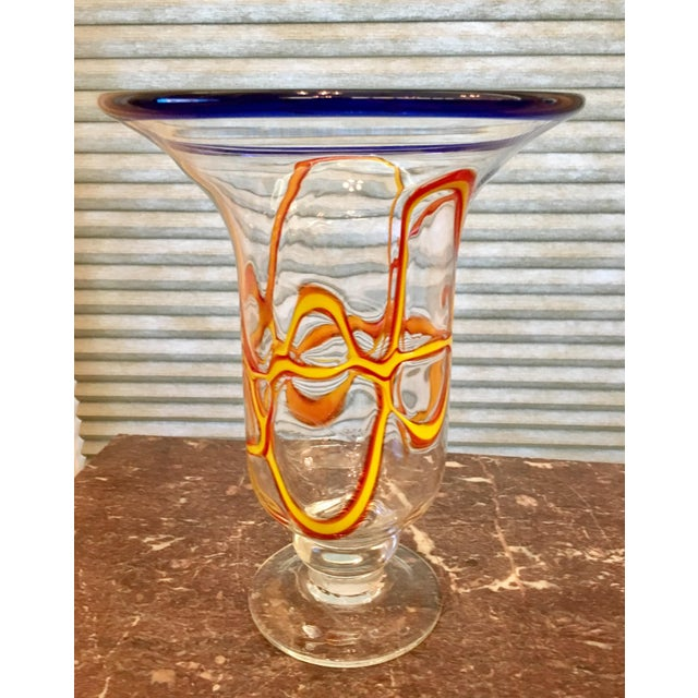 Primary Color Art Glass Vase - Image 4 of 9