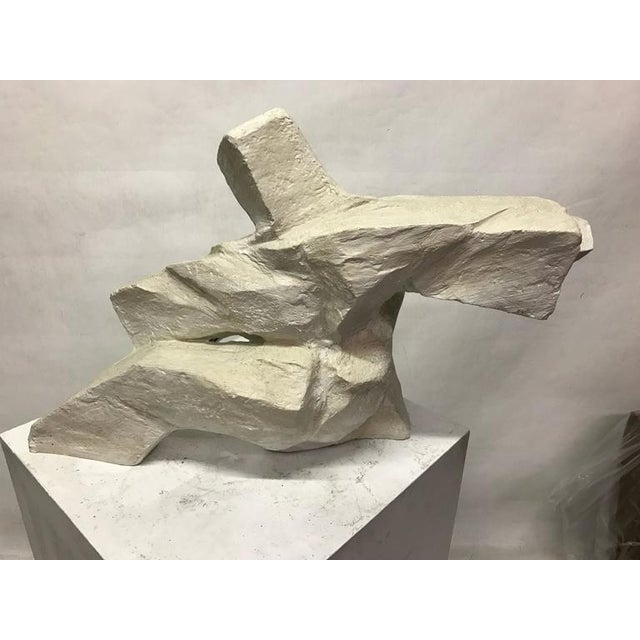 Abstract Figurative Plaster Sculpture - Image 3 of 4