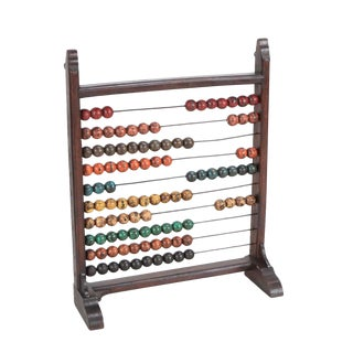 Oversize Antiqued Abacus Nursery Decor For Sale