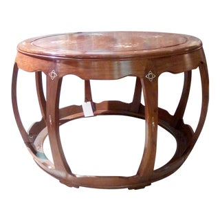 Mid-Century Modern Mahogany Mother of Pear Entrance Table For Sale