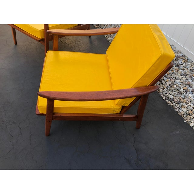 Mid Century Danish Modern Lounge Chairs- a Pair For Sale - Image 4 of 13