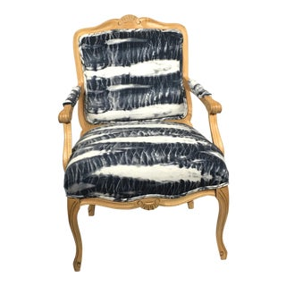 Hand Dyed Shibori Side Chair